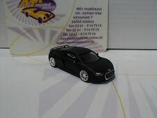Herpa 027717 # Audi R8 V10 Plus in mattschwarz mit Chromfelgen 1:87 NEUHEIT