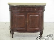 45483EC: JEFFCO Marble Top 1/2 Round Commode Cabinet