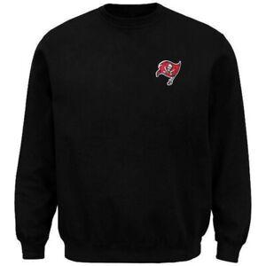 Tampa Bay Buccaneers NFL Mens Embroidered Logo Sweatshirt Black Adult Sizes