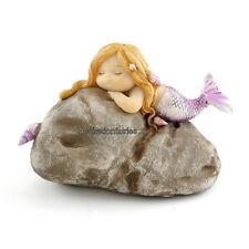 Miniature Little Mermaid on Rock TO 4465 Fairy Garden Dollhouse