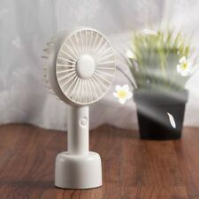 Mini Portable USB Rechargeable 3-Speed Handheld Aroma Desk Fan  Air Cooler