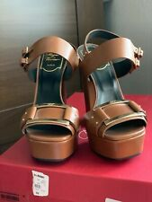 Roger Vivier women platform leather heels 35