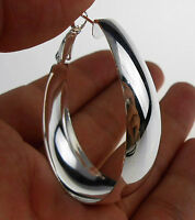 "Wholesale Women Jewelry 925 Sterling Silver Plated ""U"" Width Hoop Dangle Earring"