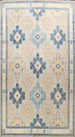 Vegetable Dye Hand-knotted Khotan Oriental Area Rug Geometric Wool Carpet 9'x13'