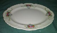 "Taylor Smith & Taylor Fairway TST916 Oval Platter 10.5"" Multi Colored Bouquets"