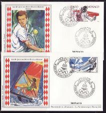 enveloppe 1er jour Monaco   jeux des petits Etats d' Europe   tennis  1987