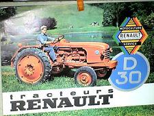 REPLIQUE 1994 DU PROSPECTUS TRACTEUR AGRICOLE RENAULT D30  / ANNEES 1950