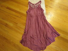 Free People Cast Your Net Washed Pink Dress Size Small  $148 Authentic New NWT