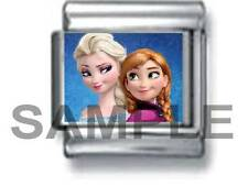 ANNA & ELSA SISTERS 9MM ITALIAN PHOTO CHARM LINK frozen