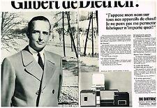 E- Publicité Advertising 1968 (2 pages) Cuisinière et chauffage De Dietrich