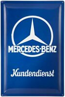 XL Retro Tin Embossed Sign MERCEDES BENZ Kundendienst 'Customer Service' 60x40cm