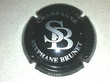 Capsule de champagne BRUNET Stéphane initial SB (4. noir et métal)