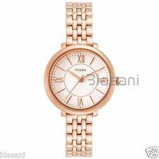 Fossil Original ES3799 Women's Jacqueline Mini Rose Gold Stainl Steel Watch 26mm