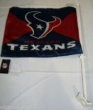NFL NWT CAR WINDOW FLAG - HOUSTON TEXANS