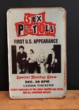 SEX PISTOLS, USA CONCERT. VINTAGE-STYLE TiN WALL SIGN ( 20x30cm )
