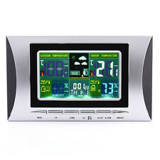 Colorful Weather Station Wireless Digital Indoor Outdoor Temperature Forecast
