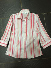 NEW LOOK PINK WHITE STRIPED SHIRT SIZE 12 BRAND NEW