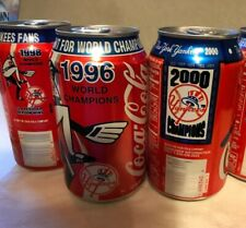 96/98/2000 NY Yankees World Series Champions Coca-Cola Cans-Core 4  Jeter Rivera