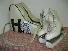 Vintage Lot PATINAGE SUR GLACE PATINS ADIDAS CATY + HOUSSE HUNGA Old Ice Skating