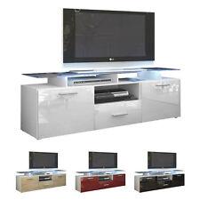 "White High Gloss Modern TV Stand Unit Media Entertainment Center ""Almada"""