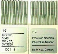 MUVA 62X57 5640 DVX57 SY 3260 SIZE:100/16 INDUSTRIAL SEWING MACHINE NEEDLES