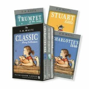 NEW EB White Classic Story Collection 3 Books Set Stuart Little Charlotte's Web