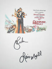 Octopussy Signed Movie Film Script James Bond Roger Moore Lois Maxwell reprint