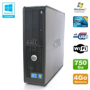 PC DELL Optiplex 780 Sff Core 2 Duo E8400 3Ghz 4Go DDR3 750Go WIFI Win 7 Pro