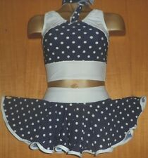 Navy Blu/Bianco/Polka Dot/Lycra/Rock and Roll/Freestyle Dance/7/9