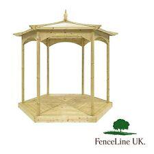 'Budleigh' Garden Gazebo - Hexagonal - Deck Base - Bandstand - Wooden