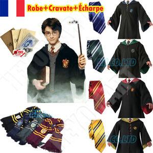 Harry Potter Cape Costume Cosplay Manteau écharpe Cravate Gryffindor Slytherin