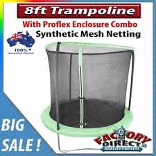 NEW! 8ft Trampoline with Proflex Enclosure Combo Easy Assemly Kids Fun Safety!