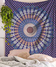 Indian cotton tapestry mandala wall hanging hippie queen bedding bedspread decor