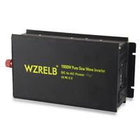 24V to 120V 60Hz Pure Sine Wave Power Inverter 1000W DC to AC Converter Solar RV