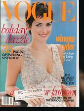 VOGUE December 1996 Fashion Magazine WINONA RYDER Cover by STEVEN MEISEL