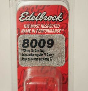Edelbrock 8009 1977-Later Chevrolet GM Throttle Cable Adapter