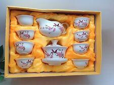 Gaiwan Bird Flower White Tea Set 10pce With Gift Box Best Seller Half Price