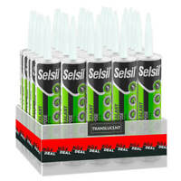 Selsil Premium 280ml Translucent Multi Purpose Silicone Sealant (25-Pack)