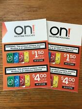 ON! Nicotine pouch pouches coupons $11.00 savings