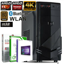GAMER PC AMD FX-8800 8GB DDR4 500GB Radeon R7 4K GRAFIK Windows 10 WLAN Computer