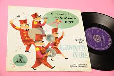 "QUARTETTO CETRA LP 10"" CANZONI SANREMO 1957 ORIGINALE 1957 TOP TOP RARO"