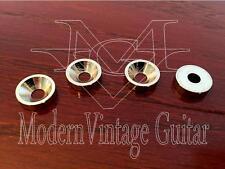8  Modern Vintage Guitar Classic Neck Mounting Ferrules & Screws  NICKEL
