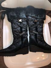 Ladies Winter Boots,New, Original Coach, Size 7-7,5 B,Knee High Platform/Wedge