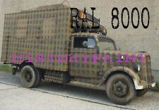 RAL 8000 FARBE GELBBRAUN LEHMBRAUN WEHRMACHT 1941 KDF SDKFZ LACK AFRIKA DAK 1kg