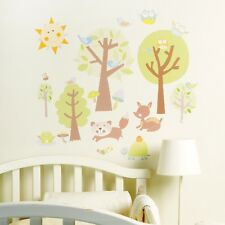 New WALLIES BABY WALL DECOR PEEL & STICK Mural Decals Decor Art DIY ANIMAL TALES