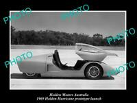 OLD POSTCARD SIZE PHOTO OF GMH HOLDEN HURRICANE PROTOTYPE LAUNCH c1969 4