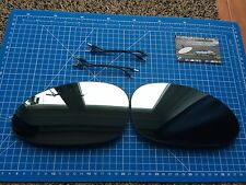 BMW E46 M3 Coupe Convertible Pair Heated Wing Mirror Glass Blue & LEADS Pre-05