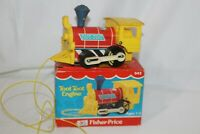 Vintage Fisher Price Toot-Toot Train Engine Pull Toy #643, USA Made Original Box
