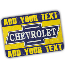 Personalize Your Own Chevrolet Garage Design 8x12 In Aluminum Sign
