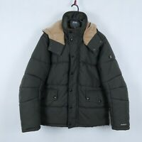 G STAR DUTON Mens Brown Puffer Quilted Winter Warm Jacket Coat SIZE Medium